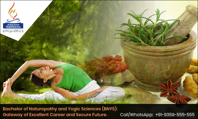 Bachelor of Naturopathy and Yogic Sciences (BNYS): Gateway of Excellent Career and Secure Future.