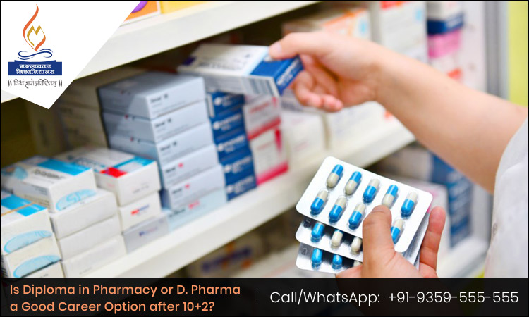 Is Diploma in Pharmacy or D. Pharma a Good Career Option after 10+2?