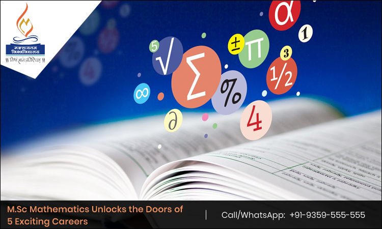 M.Sc Mathematics Unlocks the Doors of 5 Exciting Careers