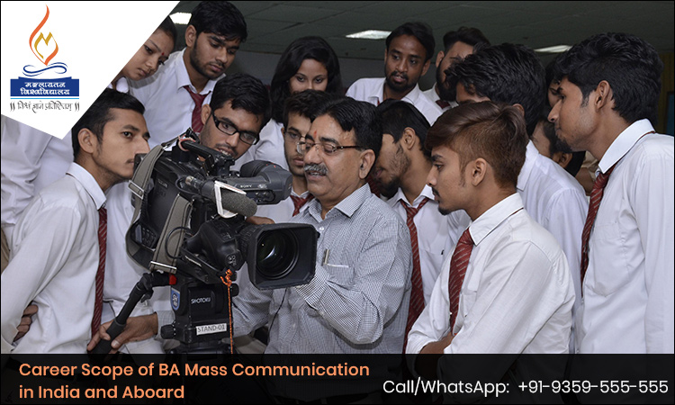 Career Scope of BA Mass Communication in India and Aboard