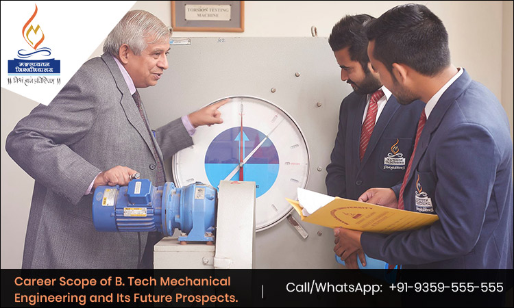 Career Scope of B. Tech Mechanical Engineering and Its Future Prospects.